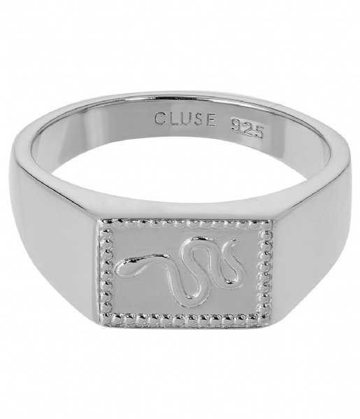 CLUSE Ring Force Tropicale Signet Rectangular Ring silver plated (CLJ42012)