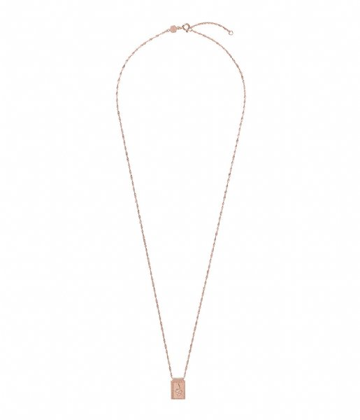 CLUSE Ketting Force Tropicale Twisted Chain Tag Pendant Necklace rose gold plated (CLJ20014)