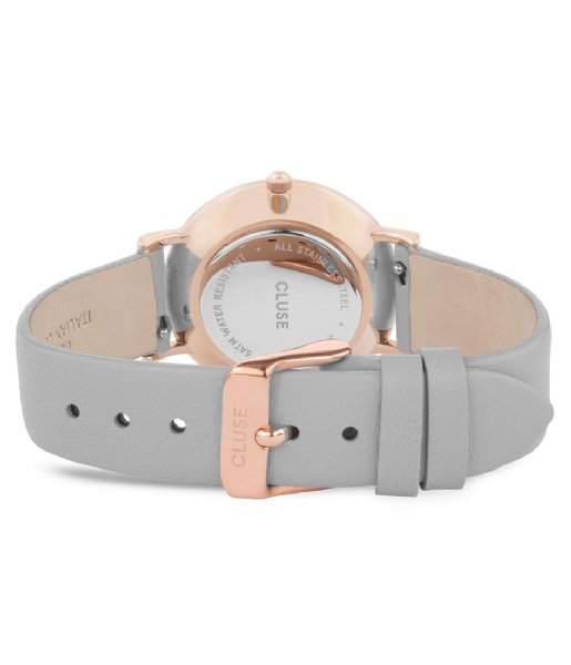 CLUSE Horloge Le Couronnement Rose Gold Plated White soft grey (CL63001)