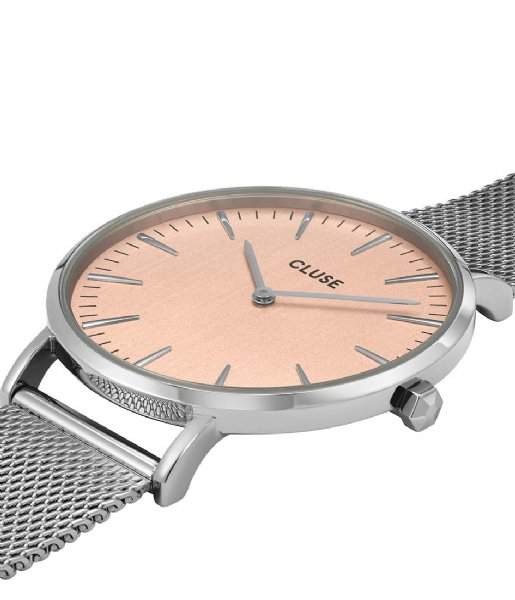 CLUSE Horloge La Boheme Mesh Silver Colored rose gold colored (CW0101201026)