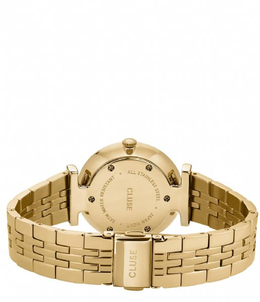 CLUSE Horloge  Triomphe 5 Link Gold White Pearl gold plated (CW0101208014)