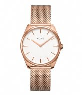 CLUSE Feroce Mesh Rose Gold Plated White rose gold plated white (CW0101212002)