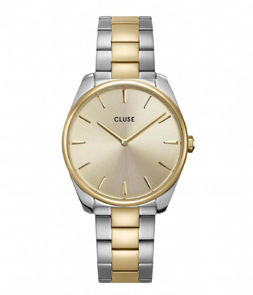 CLUSE Horloge Feroce 3 Link Silver Plated Soft Gold Colored silver soft gold (CW0101212004)