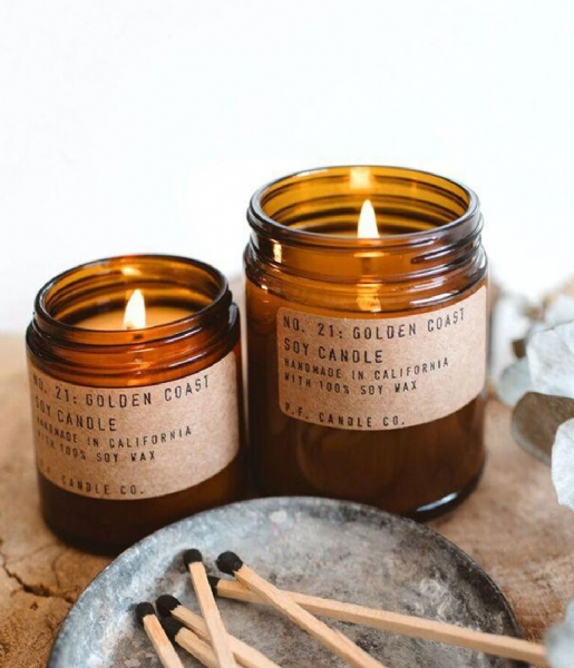P.F. Candle Co Geurkaars en Diffuser Candle Golden Coast Large golden coast