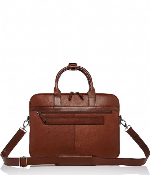 Castelijn & Beerens Laptop schoudertas Laptopbag 15.6 Inch + Tablet cognac