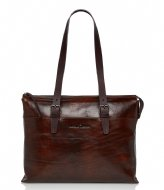 Castelijn & Beerens Laptop Shoulder Bag 15.4 Inch cognac