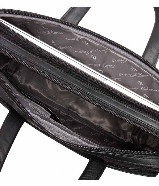 Castelijn & Beerens Laptop schoudertas Bravo Laptop Bag 15.6 Inch black
