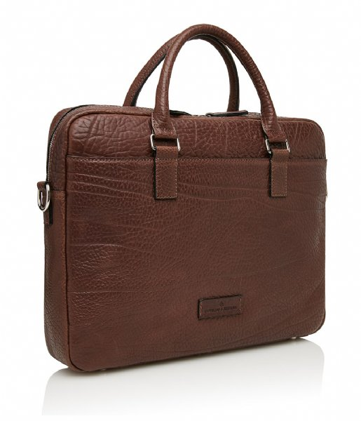 Castelijn & Beerens Laptop schoudertas Exclusive Laptop Bag 15.6 Inch + Tablet walnoot