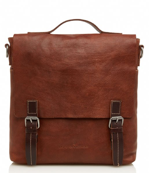 Castelijn & Beerens Crossbodytas Richard Satchel Bag 10.5 Inch light brown