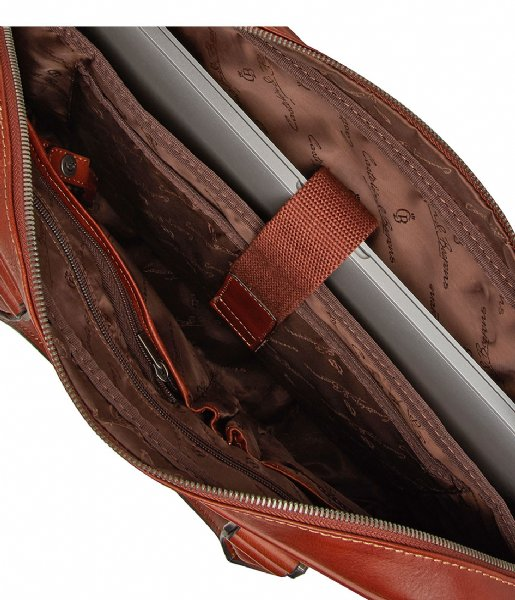 Castelijn & Beerens Laptop schoudertas Verona Laptop Bag 15.6 Inch light brown