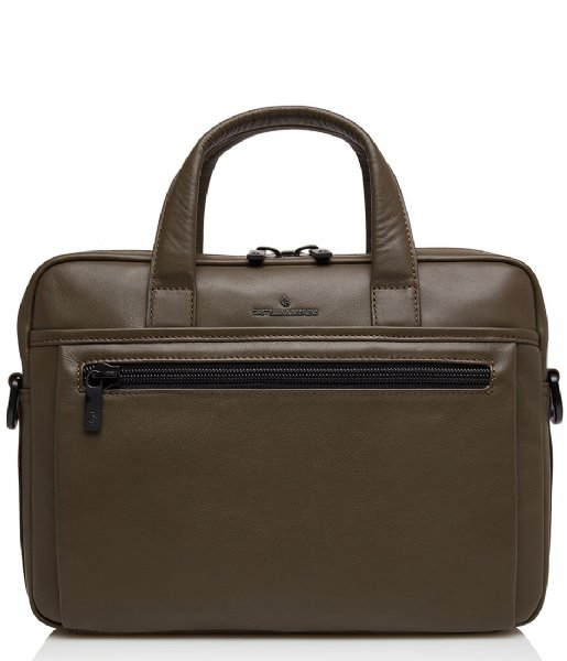Castelijn & Beerens Laptop schoudertas Delta Laptop Bag 13 Inch dark military