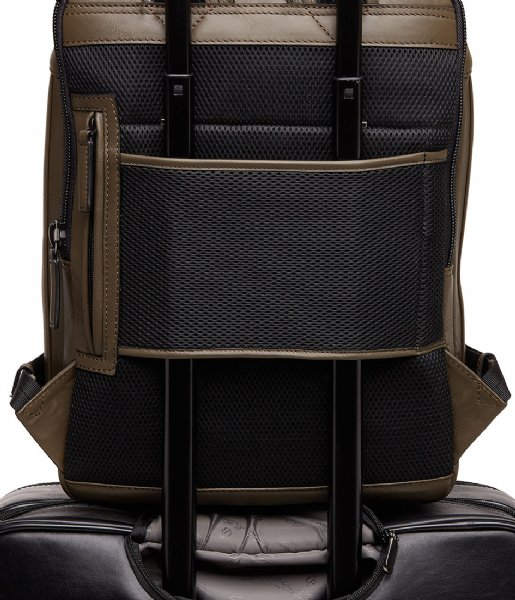 Castelijn & Beerens Laptop rugzak Victor Backpack 15.6 Inch dark military