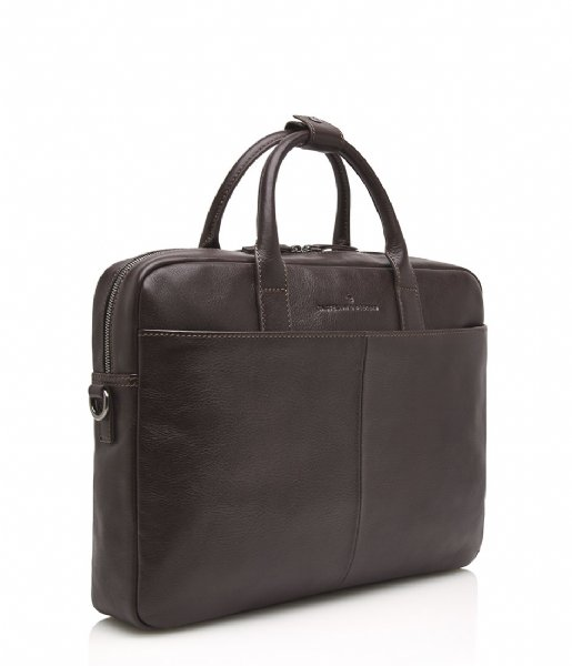 Castelijn & Beerens Laptop schoudertas Laptop Bag 15.6 Inch mocca