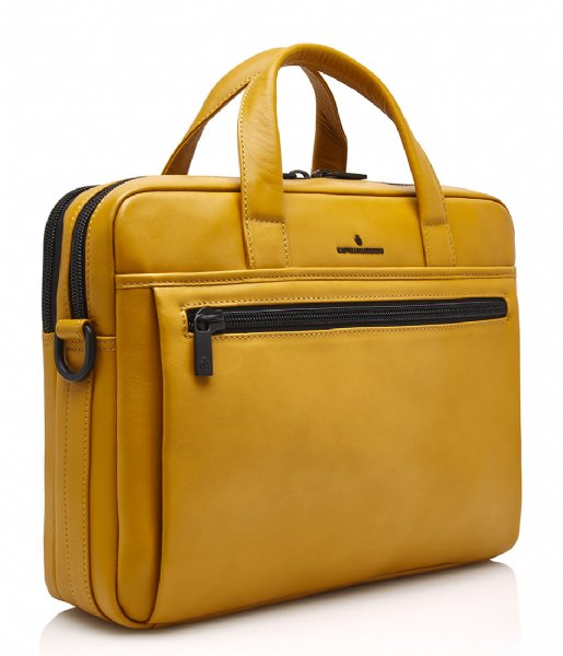 Castelijn & Beerens Laptop schoudertas Charlie Laptopbag 15.6 Inch yellow