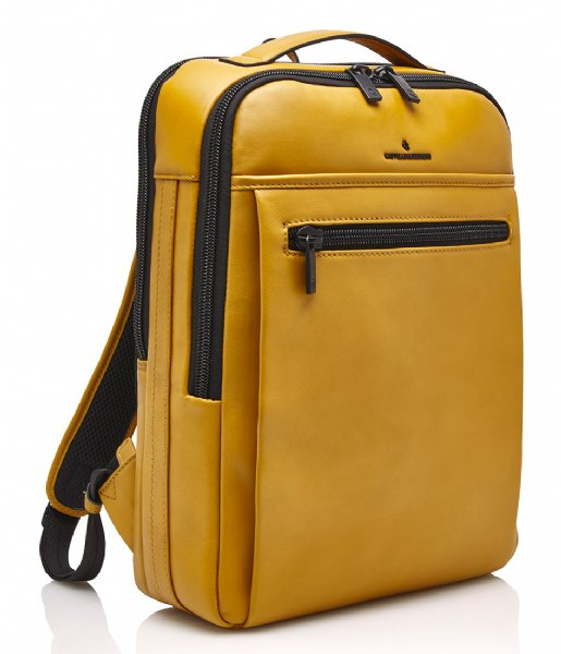 Castelijn & Beerens Laptop rugzak Victor Backpack 15.6 Inch yellow