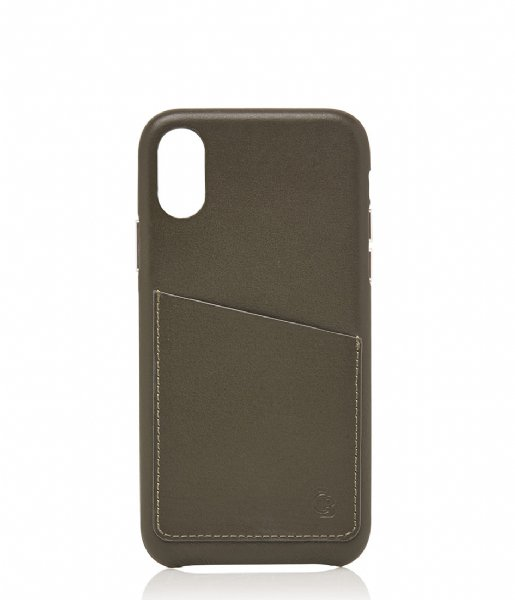 Castelijn & Beerens Smartphone cover Nappa Back Cover Wallet iPhone X + XS dark military