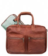 Cowboysbag The Diaper Bag Mint Inside cognac & mint inside