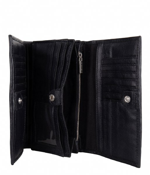 Cowboysbag Tri-fold portemonnee Purse Cole black (100)