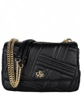 DKNY Alice Large Flap Shoulderbag Black gold