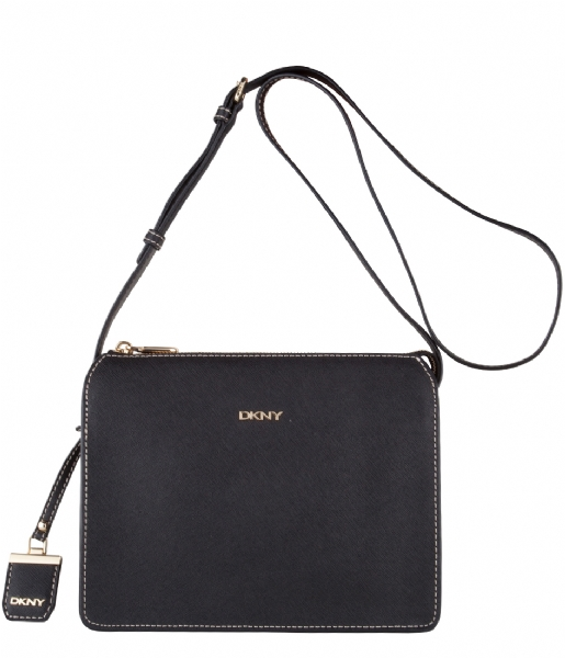 bryant park top zip crossbody black (001) dkny | the little green bag