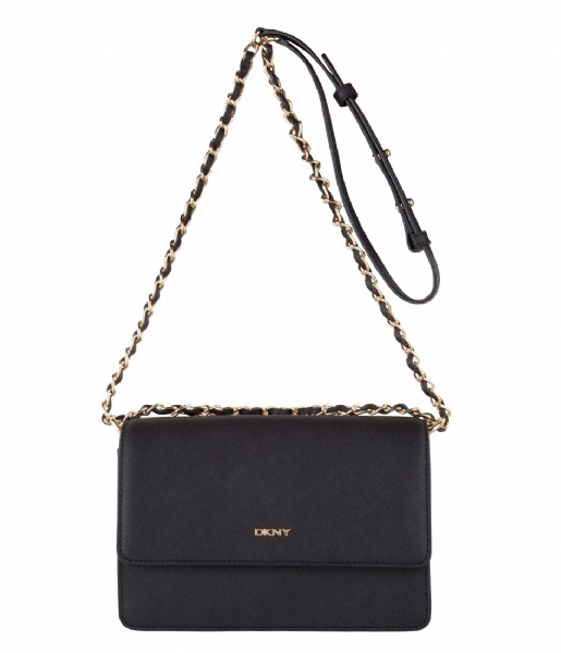 bryant park small flap crossbody chain handle black (001) dkny | the