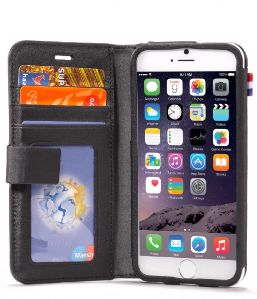 Decoded Smartphone cover iPhone 6 Leather Wallet Case zwart