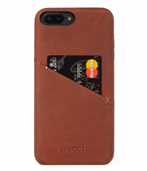 Decoded Smartphone cover iPhone 6/7 Plus Leather Back Cover cinnamon brown
