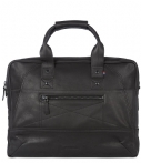 Decoded-Laptoptassen-Leather Briefcase 15 inch-Zwart