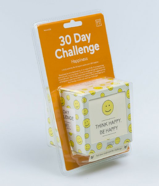 DOIY Gadget 30 Days Happiness Challenge English white
