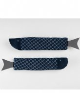 DOIY Fish Socks navy blue