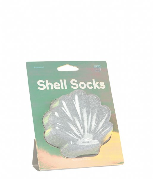 DOIY Sokken Shell Socks silver colored