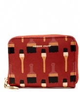 Fabienne Chapot Mimi Purse Dont Brush It Print lava red black