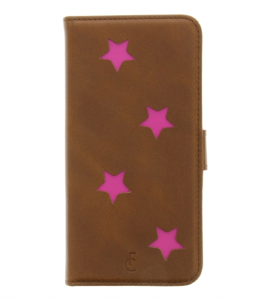 Fabienne Chapot Smartphone cover Pink Reversed Star Booktype Samsung Galaxy S7 cognac