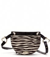 Fabienne Chapot Lilian Bag Hairy white black