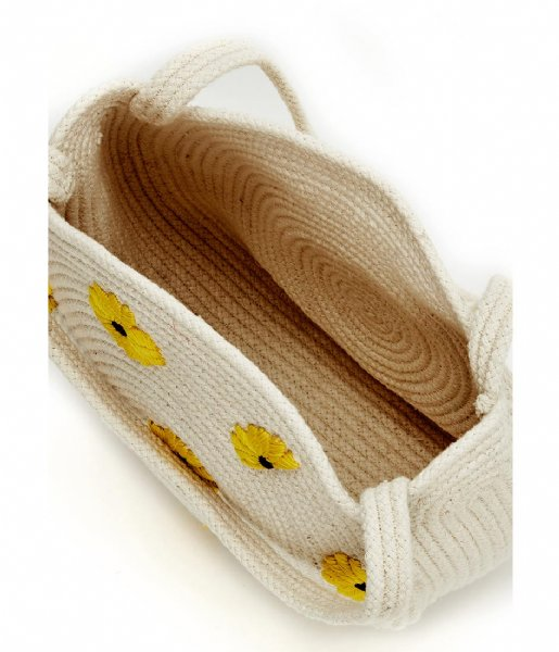Fabienne Chapot Schoudertas Summer Bag Small Off White/Sunflower