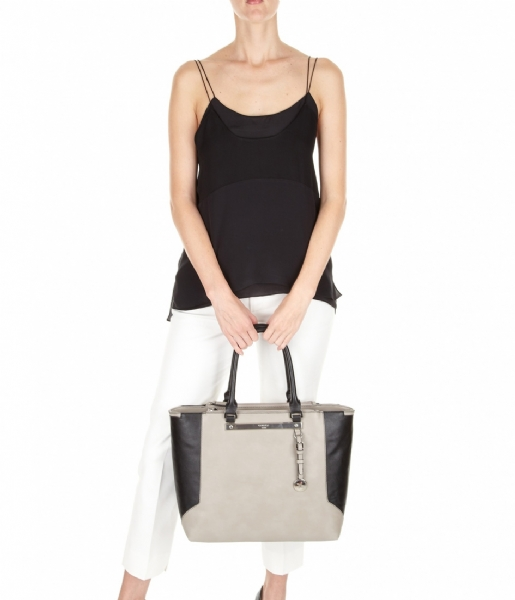 Paris tote grey black fiorelli the little green bag - Little green paris ...