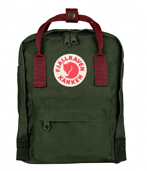Fjallraven Dagrugzak Kanken Mini forest green-ox red (660-326)