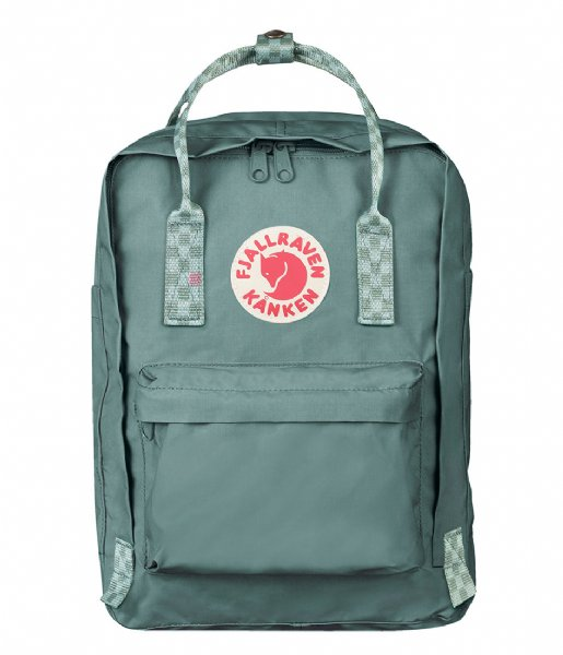 Fjallraven Laptop rugzak Kanken 13 inch frost green chess pattern (664-904)