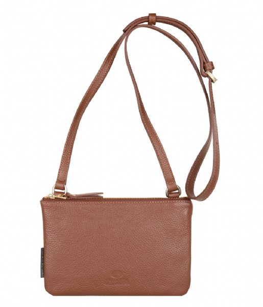 Fred de la Bretoniere Crossbodytas Crossbody Small Grain Leather cognac