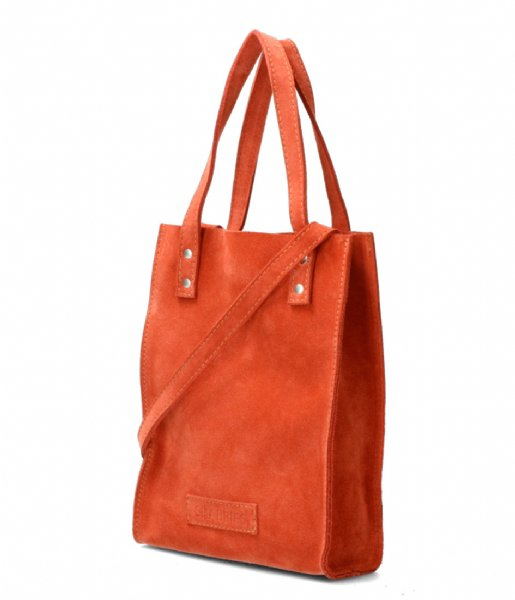 Shabbies Shopper Shopper Xs Suede rust brown