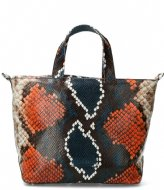 Shabbies Handbag M Multicolor Snake Print Leather multi blue