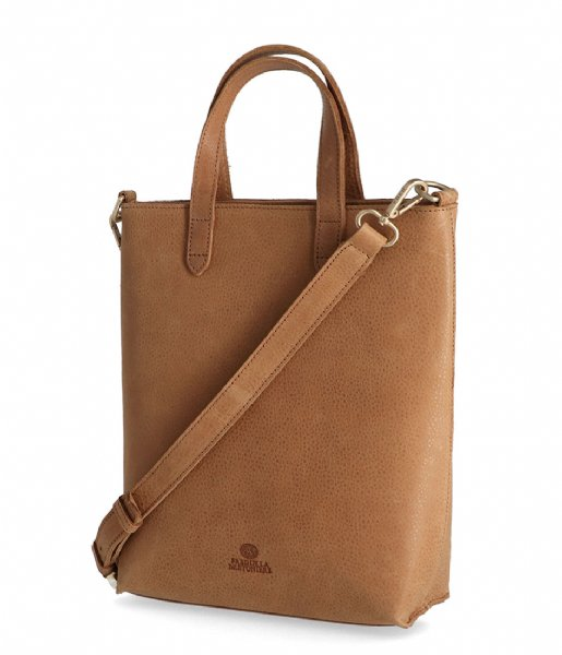 Fred de la Bretoniere Handtas Handbag M Heavy Grain Leather Sand