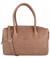 Fred de la Bretoniere 213010026 Handbag L Heavy Grain Leather Cognac