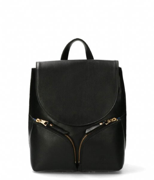 Fred de la Bretoniere Dagrugzak Backpack S Soft Nappa Leather Black