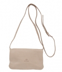 Fred de la Bretoniere-Handtassen-Crossbody Small Polished Printed Leather-Taupe