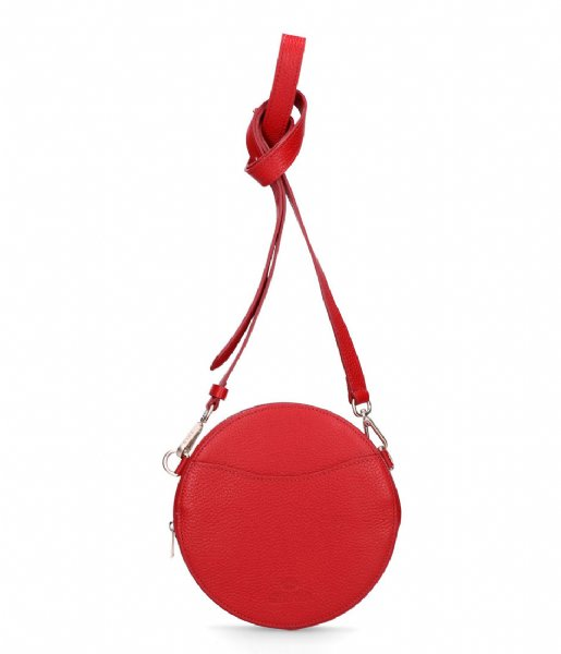 Fred de la Bretoniere Crossbodytas Crossbody Round Small Grain red