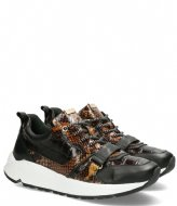 Fred de la Bretoniere Sneaker Kroko Printed Leather dark brown