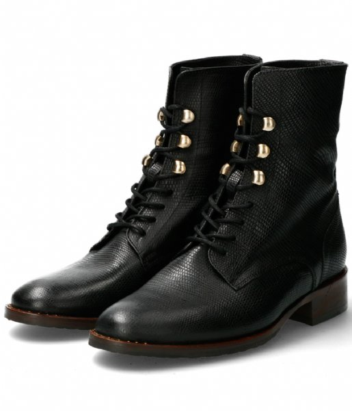 Fred de la Bretoniere Laarsjes Ankle Boot Lace Up black