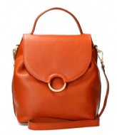 Fred de la Bretoniere Shoulderbag S Soft Grain Leather cognac