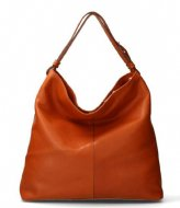 Fred de la Bretoniere Shoulderbag L Soft Grain Leather cognac